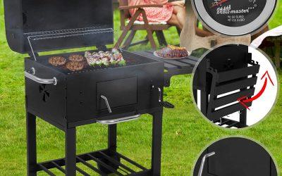 Barbecue charbon de bois fumoir.